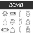 Bomb icons set vector image