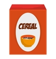 cereal box icon vector image