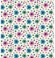 Funny colorful seamless pattern with flowers vector image