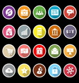 Smart phone icons with long shadow vector image