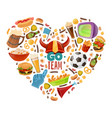 sport bar heart vector image