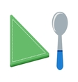 Spoon and Napkin vector image
