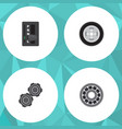 flat service set of automatic transmission belt vector image