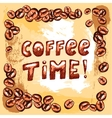coffee time poster vector image vector image
