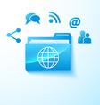 share folder vector image