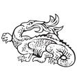 heraldic dragon No11 vector image