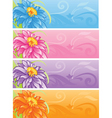 spring flowers banner set vector image