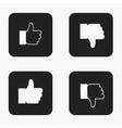 modern thumb up icons set vector image vector image