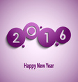 Abstract violet New Year wishes with circles vector image vector image