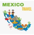 Map Mexico Background vector image