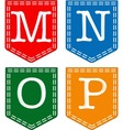 Four Letters M N O P vector image