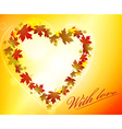 glowing autumn vector image