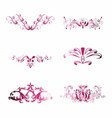 Pink Vintage Floral Design Element vector image