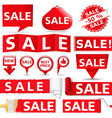 Red Sale Banners vector image