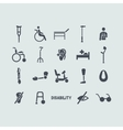Set of disabled icons vector image