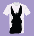 t-shirt with donkey on it vector image