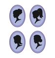 women silhouettes vector image