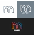 letter M logo alphabet design icon set background vector image
