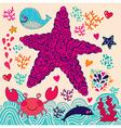 Abstract starfish vector image vector image