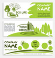 eco green business banner template design vector image