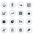 set of simple investment icons vector image