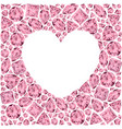 heart frame made of pin gemstones vector image