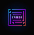 maze colorful icon vector image
