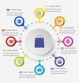 infographic template with shopping icons vector image