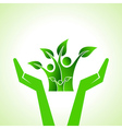 Save eco family concept vector image vector image