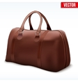 Classic Brown Leather Bag vector image