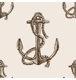 Anchor and rope sketch seamless pattern vector image