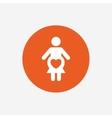 Pregnant sign icon Pregnancy symbol vector image