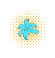 Lily flower icon comics style vector image