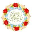 flower wreath Floral element for design of vector image