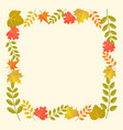 leaves frame in autumn theme vector image