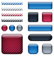 glossy buttons and bars vector image