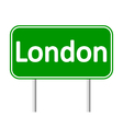 London road sign vector image