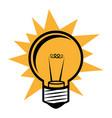 silhouette light bulb in pop art design vector image