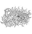 heraldic dragon No12 vector image