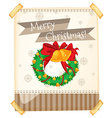Merry Christmas sign with ornaments vector image vector image