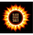 Abstract burning fire circle Black friday sale vector image