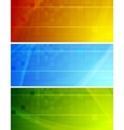 vibrant stylish banners vector image vector image