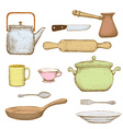 Kitchenware Stock vector image vector image