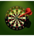 Dartboard with dart in the center vector image