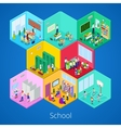 Isometric School Interior with Lecture Hall vector image