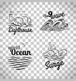 ocean wave logo set vector image