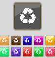 processing icon sign Set with eleven colored vector image