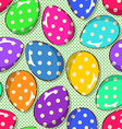 Seamless pattern of funny Easter eggs vector image