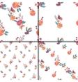 Seamless Vintage Wildflowers Pattern Set vector image