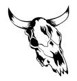 skull bull 2 vector image